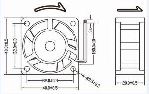 40mm 4020 5V 12V 24V DC Cooling Fan 40X40X20mm pictures & photos
