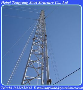 Galvanized Telecommunication Lattice Guyed Steel Tower pictures & photos