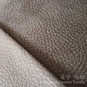 Embossed Leather Micro Suede Polyester Fabric for Sofa pictures & photos