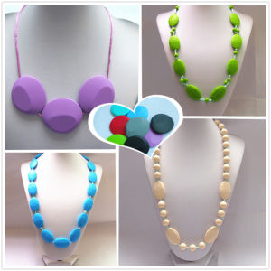 Custom Silicone Necklaces Large Beads 100% Non-Taxic 04# (NK001)