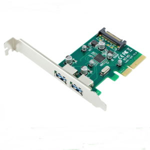 PCI-E to USB 3.0 a Female 2 Port Express Card pictures & photos