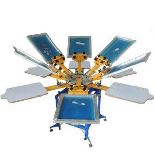8 Color T-Shirt Silk Screen Printing Machine