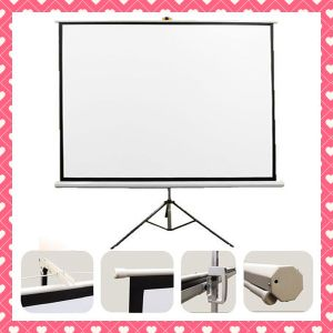 4: 3 16: 9 1: 1 100 Inch Tripod Standing Projector Screen pictures & photos