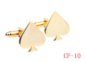2014 New Product Alloy Spade Fashionable Shirt Cufflinks (CF-10)