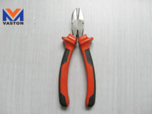 Diagonal Cutting Plier with Double Color Handle pictures & photos