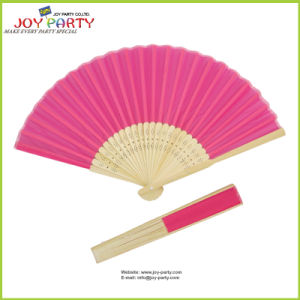 Hot Pink Silk Hand Fan pictures & photos