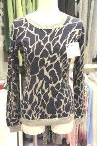Ladies′ Crew Neck Cashmere Printed Sweater (CPRP1105L) pictures & photos