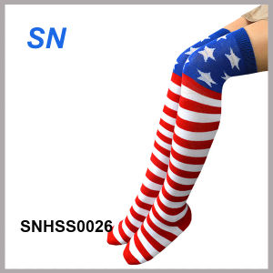2015 Fashion Hot Sell American Flag Socks pictures & photos