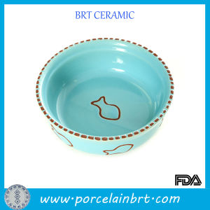 Enamel Round Ceramic Pets Dish Bowl pictures & photos