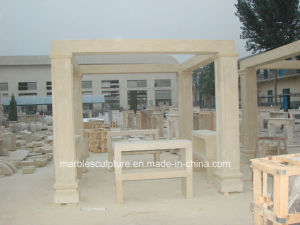 Egypt Beige Cream Qu Yang Stone Sculpture Marble Gazebo (SY-G013) pictures & photos