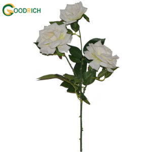 3 Heads Rose Artificial Flower for Decoration pictures & photos