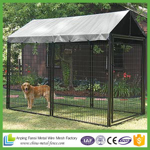 Square Corner Design Black Powder-Coat Dog Kennels for Us Market pictures & photos