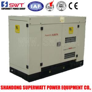 Super Silent Diesel Generator Set with Kubota Power 26kVA pictures & photos
