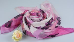 100% Silk Digital Print Shawl Fashion Silk Chiffon Shawl pictures & photos