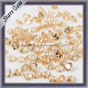 Heart Cut in Champagne CZ Stone Loose Gemstone Beads pictures & photos