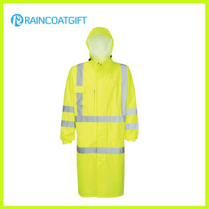 Hooded Relfective Nylon Oxford Police Raincoat (RPY-056) pictures & photos