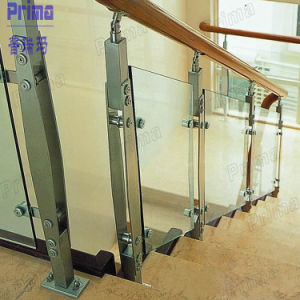 Stainless Steel Glass Railing/Balustrade for Wooden Staircase pictures & photos
