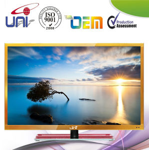 Golden Narrow Bezel Internet WiFi 32 Inch LED TV pictures & photos