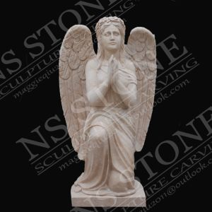 Light Beige Marble Angel Sculpture in Natural Stone pictures & photos