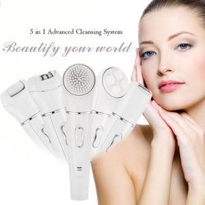 Skin Care Product Electric Cleaning Brush with Facial Massager pictures & photos