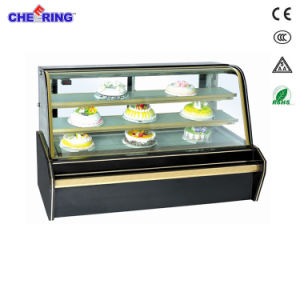 Marble Double-Arc Glass Display Refrigerator Showcase (CS328FL2C3H2) pictures & photos
