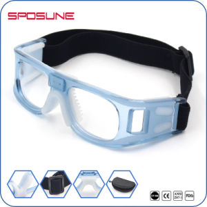 Black Wrap Around Adjustable Basketball Protective Goggles Football Game Goggles pictures & photos