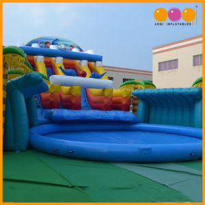 Outdoor Event Forest Theme Inflatable Water Park Big Pool and Water Slide (AQ3108) pictures & photos