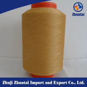 Spandex Covered Yarn for Knitting Dope Dyed Polyester Yarn Fabric Yarn pictures & photos