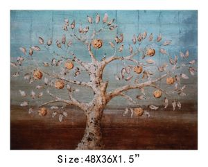 Absract Decorative Oil Tree Painting for Bedroom on Wall (LH-700045) pictures & photos