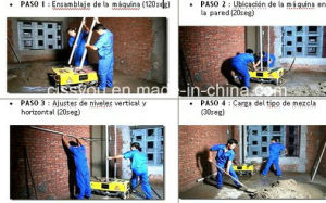 China Auto Cement Block Wall Plaster Rendering Plastering Machine pictures & photos