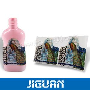 Siliver Shining Plastic Film Transparent Perfume Bottle Label pictures & photos