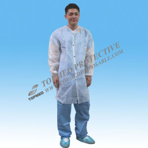 Nonwoven Disposable Hospital Gowns Lab Coat pictures & photos