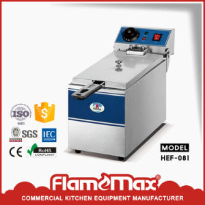Stainless Steel Electric China Chip Fryer with 2-Tank 2-Basket (HEF-12L-2) pictures & photos