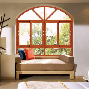 Simple Design Tempered Glass Sliding Window for Office pictures & photos