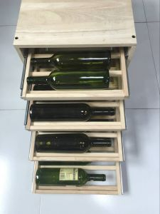 108 Bottles Wooden Drawer Wine Rack Display Stand pictures & photos