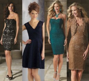Lace Plus Size Mother of Bride Gowns Lace Evening Dresses Z7033 pictures & photos