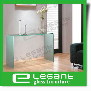 Modern Clear Curved Glass Console Table pictures & photos