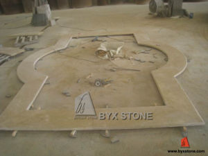 Turkish Beige Travertine Fountain Surround Coping pictures & photos