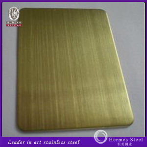 201 304 316 430 Hairline Finish Stainless Steel Sheet for Interior Wall Panels pictures & photos