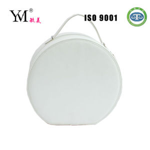 2014 Huge Half Moon White Cosmetic Case with Zipper pictures & photos