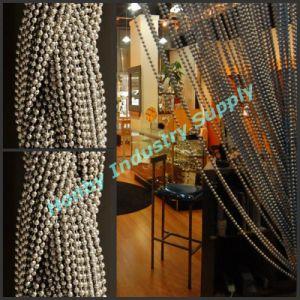 Modern Home Design 6mm Silver Metal Ball Chain Curtain