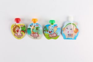 Plastic Fruit Jelly Spout Food Gusset Doybag pictures & photos