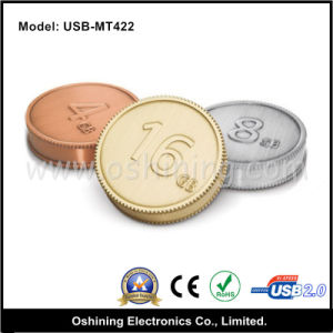 Coin Shape USB Flash Drive (USB-MT422) pictures & photos