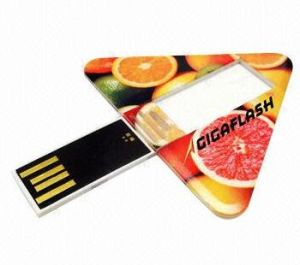 Triangle Card USB Disk Flash Card Pen Drive pictures & photos
