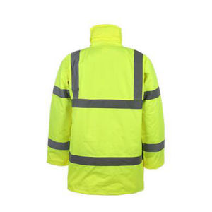 Winter Strip Yellow Safety Jacket Coat pictures & photos