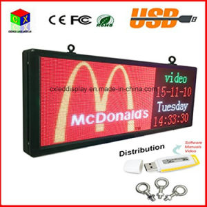 P5 RGB Full Color LED Sign 15′′x40′′/ Support Scrolling Text LED Advertising Screen / Programmable Image Video Outdoor LED Display