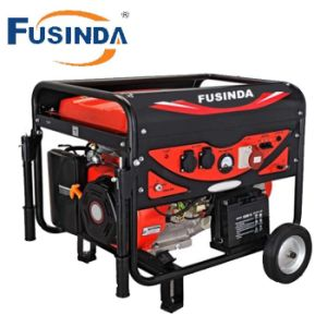 Fusinda 5kw Electric Gasoline Generator with Handle and Big Wheels pictures & photos