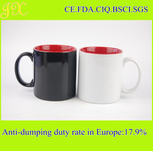 Eco-Friendly 20oz Double Tone Colored Ceramic Mug Cups