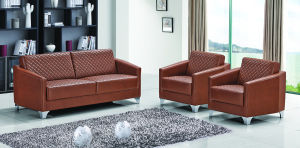 Guangzhou Modern Office Furniture Brown Leather Spervisor Office Sofa (FOH-1426) pictures & photos