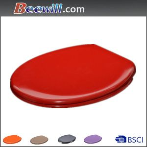 Duroplast Material Red Wc Seat with Soft Close pictures & photos